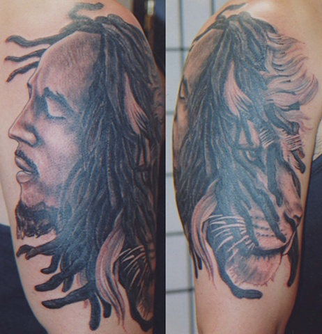 Lion with dreads tattoo drawings - photo#12