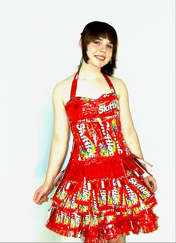 dress made out of wrappers