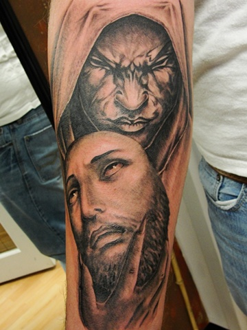 Satanic Tattoos on Tattoo  Satan Tattoo  Jesus Tattoo  Jesus  Religious  Religious Tattoo