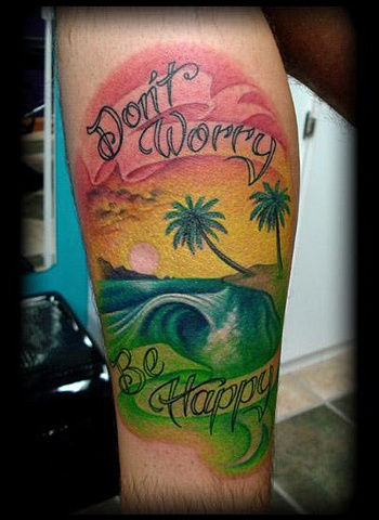 Wave Tattoos on Wave Tattoo Rasta Colors Beach Sunset Tattoos Salisbury Maryland
