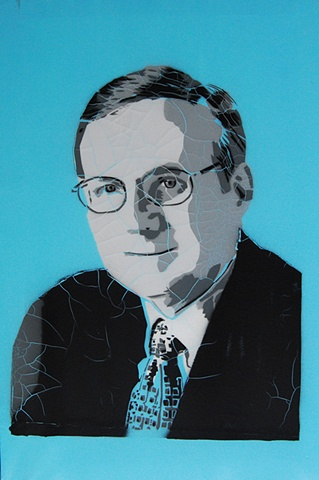 Paul Allen 2010 Spray Paint on Linen