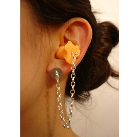 Cheryl Eve Acosta -Noise Canceling Earrings - 2008- Earplug, sterling silver