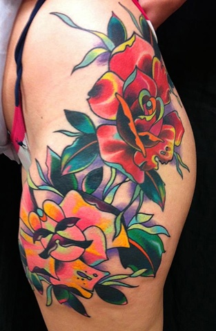 rose tattoo color