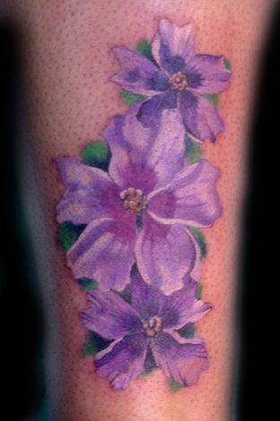 Purple Flower Tattoos