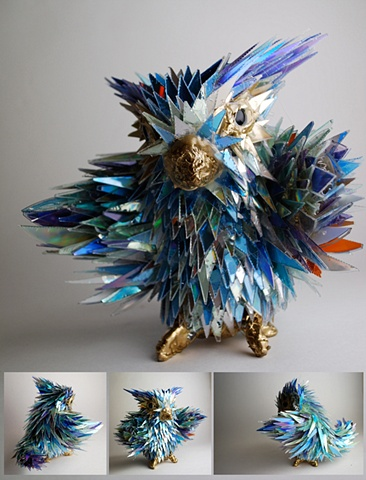 sean e avery cd sculpture mixed media sculpture shiny sculpture fleeple