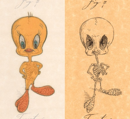 tweety bird example side by side by michael paulus